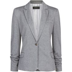 Lend your blazer collection casual appeal with this modern, jersey blazer. Designed with a classic, notched collar, long sleeves, a feminine fit and flap pocke…
