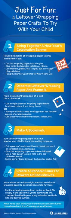 Just For Fun: 4 Leftover Wrapping Paper Crafts To Try With Your Child
