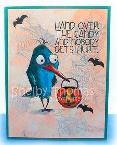 Crazy Bird Halloween