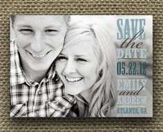 Turn you save the date photo into a canvas picture.