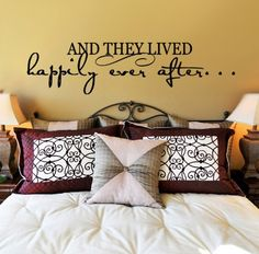 Love this decal above the bed <3