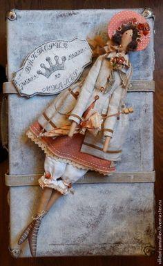 кукла тильда ручной работы барышня зонтик винтаж  винтажный стиль  купить тильду подарок подруге интерьерная кукла украшение интерьера