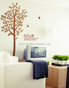 For In The True Nature Tree Wall Decals – WallDecalMall.com