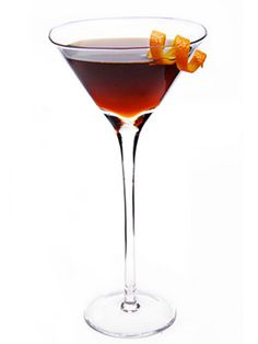 La Canne Creuse. 2 parts calvados, 1/2 part Pernod absinthe, 1/2 part dark Italian vermouth, 2 dashes of bitters, Orange twist, for garnish. Combine ingredients in a mixing glass. Add ice and stir until well chilled. Strain into a chilled cocktail glass and garnish with the orange twis