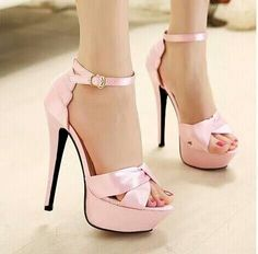 Baby Pink Strapped Sandals