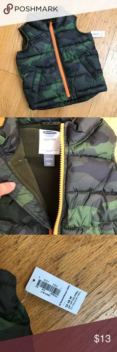 858a57c90 NWT Old Navy fleece lined puffer vest Camo vest with army green fleece  lining! Old Navy Jackets   Coats Puffers