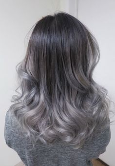 Gray Wig Black Girl Silver Grey Hair Pieces Best Temporary Hair Color For Gray Coverage Silver Ombre Hair, Ombre Hair Color, Gray Ombre, Ash Ombre, Silver Blonde, Dark To Silver Hair, Grey Hair Dark Roots, Black To Grey Ombre Hair, Grey Hair Pieces