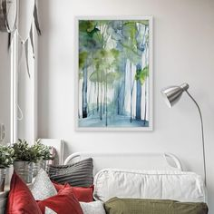 New Growth Wall Art - LatestLiving.com Painting Frames, Painting Prints, New Growth, White Bedroom, Quilt Sets, Bedroom Inspiration, Creative Director, Canvas Art Prints, Natural Wood