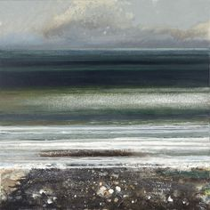 Campden Gallery - Painters - Kurt Jackson - Clams, mussels, limpets and winkles. Abstract Landscape Painting, Seascape Paintings, Landscape Art, Landscape Paintings, Landscapes, Beach Paintings, Kurt Jackson, Art Gallery Uk, St Just