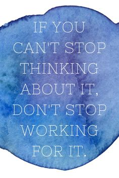 If you can't stop thinking about it, don't stop working for it. #TheWinningMoment #WeightWatchers #ad