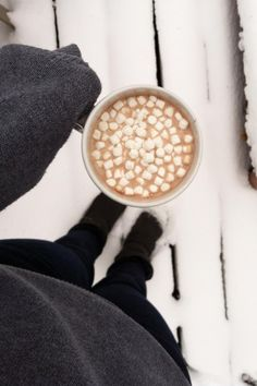 You know when its christmas when your near the fire sipping hot coca and marshmallows in your favorite mug