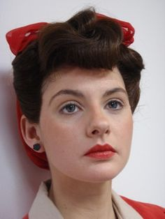 1940's hair and makeup by southwestgems, via Flickr