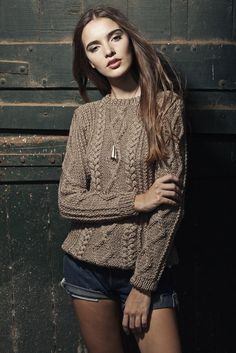 Sweater Olympia - Handmade knitwear - cable wool merino folk boho Latin América trends designer unique bold