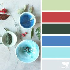 today's inspiration image for { ceramic hues } .... photo credit : @rekersdreesdesign , ceramics by : @ceramicmagpie ... thank you, Marion & Katie, for sharing your wonderful photo in #SeedsColor !