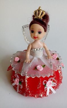 Cute BAby Doll in red and white dress