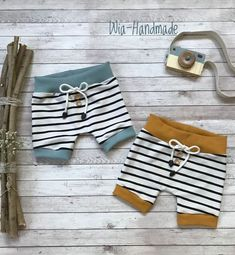 Summer Shorts - Sewing for Kids - # for # sewing # summer shorts - Kindermode - Toddler Girl Style, Toddler Girl Outfits, Baby Outfits, Kids Outfits, Baby Boy Fashion, Toddler Fashion, Kids Fashion, Baby Shorts, Kids Shorts