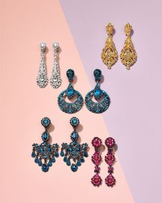 Neiman Marcus August Gift book 2016- Jose and Maria Barrera colorful evening earrings
