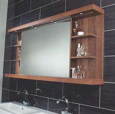 Utopia launch sliding mirror cabinet with LED spotlights