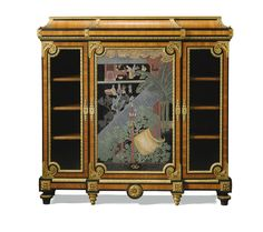 A FRENCH GILT-BRONZE-MOUNTED KINGWOOD, EBONY AND COROMANDEL LACQUER CABINET BY PAUL SORMANI NAPOLEON III, THIRD QUARTER,  9TH CENTURY