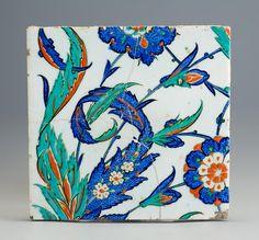 design-is-fine: Tiles, 1575-1590. Faience. Iznik, Turkey. Via Museum of Applied Arts Budapest