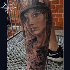Artist:  Jaime De Leon Tud II  #tattoo #tattooed #ink #inked #BlackTattoos…