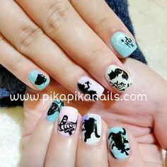 """#aliceinthewonderland  #nail #nails #nailart #cute #love #fashion #art #beautiful #beauty #polish #ネイル #girl #naildesign #ногти #nailpolish #gliter…"""