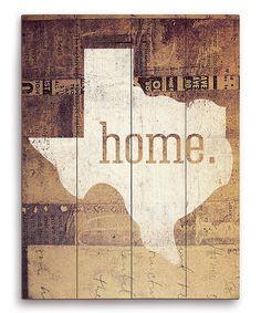 Texas U0027Homeu0027 Wall Art By Image Canvas
