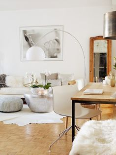 :: much to inspire here :: metallic accents :: clean wood + white