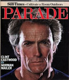 "Actor Clint Eastwood on the cover of ""Parade,"" the Sunday supplement magazine, October 23rd, 1983. Description from pophistorydig.com. I searched for this on bing.com/images"