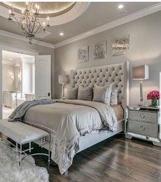 Home Bedroom, Bedroom Decor Glam, Bedroom Design, Dream Bedroom Master Bedroom Design, Dream Bedroom, Home Decor Bedroom, Bedroom Modern, Contemporary Bedroom, Trendy Bedroom, Modern Contemporary, Bedroom Designs, Glam Master Bedroom