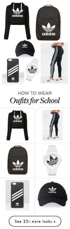 """""""Ready for school:)))"""" by briana14maria on Polyvore featuring adidas and adidas Originals"""