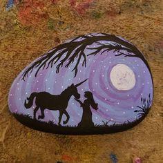 Just a girl and her unicorn #unicorn #silhouette #irr #indianriverrocks #painting #rocks #stones #paintedrocks #paintedstones #rockpainting #stonepainting #rockart #stoneart #instaart #artistsofinstagram #artistsoninstagram #paintedrocksofinstagram #creative #art #hobby #lovemyrock #kindnessrocks
