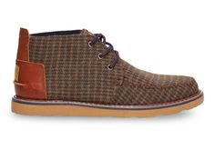timeless design 07c8a a2095 Brown Beardy Houndstooth Men s Chukka Boots. Donna · Shoes