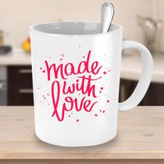 Mothers Day Mug - Made With Love - Happy Mothers Day