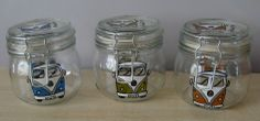 Hand Painted VW Camper 500ml Glass Storage Jars