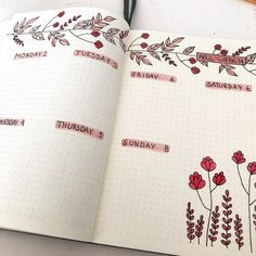 25 Awesome Bullet Journal Ideas to Boost your Motivation Bullet journal floral weekly spraed<br> 👉 This article at least will provide ❤️️ 25 awesome bullet journal ideas ❤️️ that might be the ideal solution for you. Bullet Journal 2019, Bullet Journal Notebook, Bullet Journal Inspo, Bullet Journal Spread, Bullet Journal Ideas Pages, Bullet Journal Layout, Bullet Journal Inspiration Creative, Notebook Collage, Bujo Planner