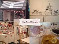 High Tea of Highgate - 50 Highgate High Street | Opening hours: tue – sat 11am-5pm, mon closed. Tube:Highgate or Archway (Northern Line).