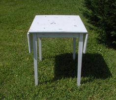 Wood TableFarmhouse TableDropleaf TablePainted by AtticJoys1, $175.00