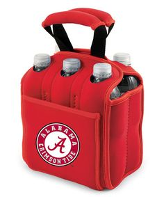 Take a look at this Red Alabama Six-Pack Beverage Buddy by Picnic Time on #zulily today!