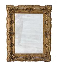 Papier peint cadre baroque carr dor beaut for Image miroir photoshop