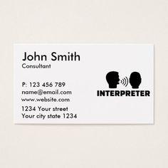 Hello interpreter translator professor languages business card hello interpreter translator professor languages business card interpreter business cards pinterest professor business cards and business colourmoves