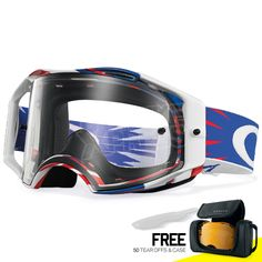6a603f06f90d Oakley Airbrake MX Goggles - High Voltage Red White Blue