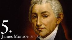 "The fifth president of the United States of America was James Monroe also known as the ""Era of Good Feeling President"". James Monroe was born April 1758 and then died July Us History, American History, Family History, Air Force One, James Monroe, Presidential History, Democrats And Republicans, James Joyce, Head Of State"