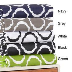 Simple Elegance Blend Scroll Park Sheet Set ( Sheet Set - /White)