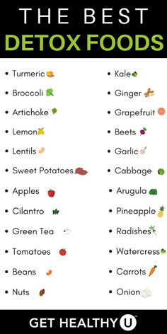 Best Recipes To Naturally Detox The Body - Get Healthy U - Save this list of the best detoxifying foods you need to add to your diet! Best Recipes To Naturally Detox The Body - Get Healthy U - Save this list of the best detoxifying foods you . Best Detox Foods, Healthy Detox, Get Healthy, Healthy Drinks, Best Healthy Foods, Easy Detox, Healthy Food List, Healthy Protein, Protein Foods