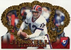 Jim Kelly # 10 - 1996 Pacific Crown Royale Football
