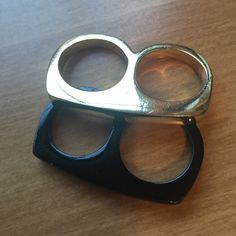 Buckle double ring. To be worn on middle and ring fingers combined. Buckle Jewelry Rings