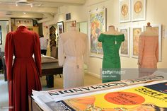 November 12, 2014--A collection of gowns worn by HRH Princess Diana to be auctioned by Julien's Auctions of Beverly Hills December 5-6, 2014 on display at Ross Art Gallery on November 12, 2014 in New York City.