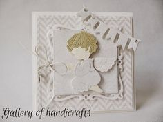 Gallery of handicrafts: Chrzest First Communion, Baby Cards, Cute Cards, Handicraft, Christening, Baby Boy, Scrapbook, Gallery, Paper