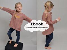 Lounge-Sweater-Girls / Schnittmuster und Nähanleitung - Schnittmuster und Nähanleitungen bei Makerist